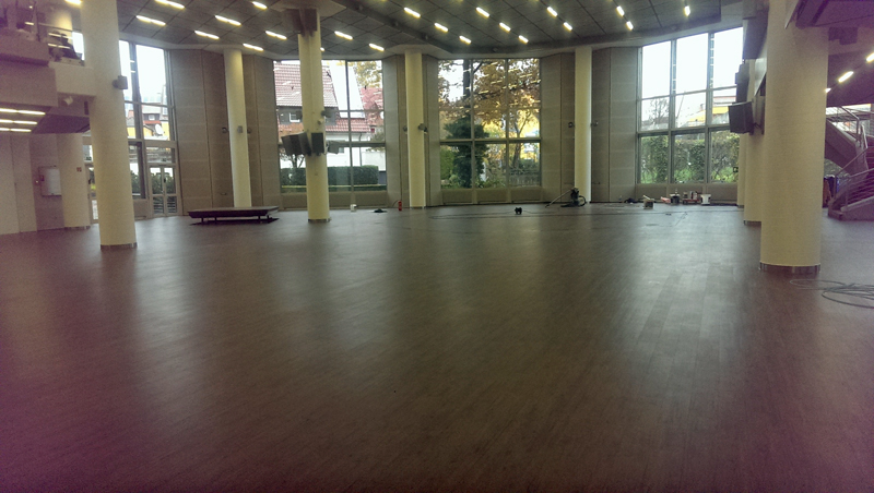 Gerflor Creation 70 Deep Forest Bausparkasse Schwäbisch Hall Speisesaal ernerung