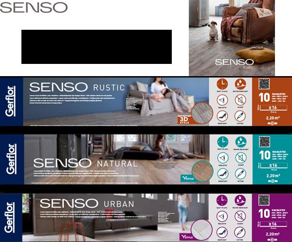 Gerflor® Senso Verpackungen Übersicht