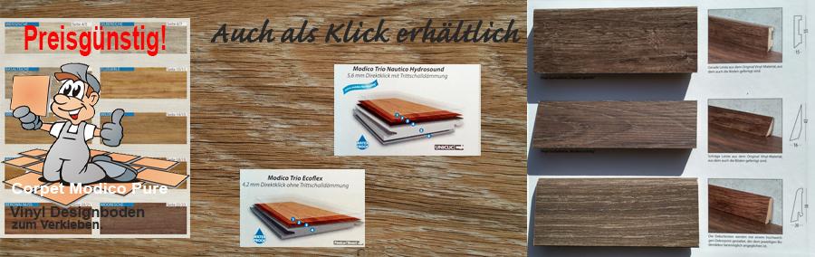 Modico Pure asl Klick und Klebe Vinylboden Belag erhältlich