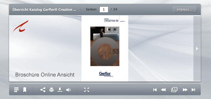 Creation Übersicht Online Katalog