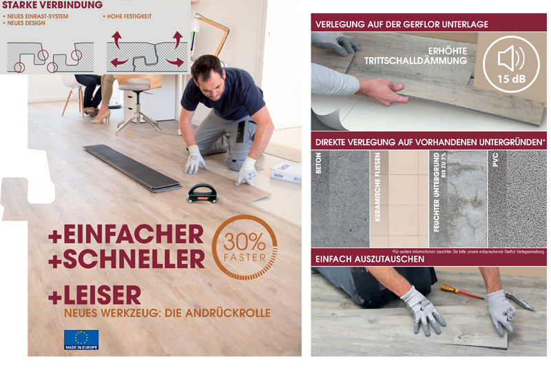 Gerflor Insight Clic Verlegung