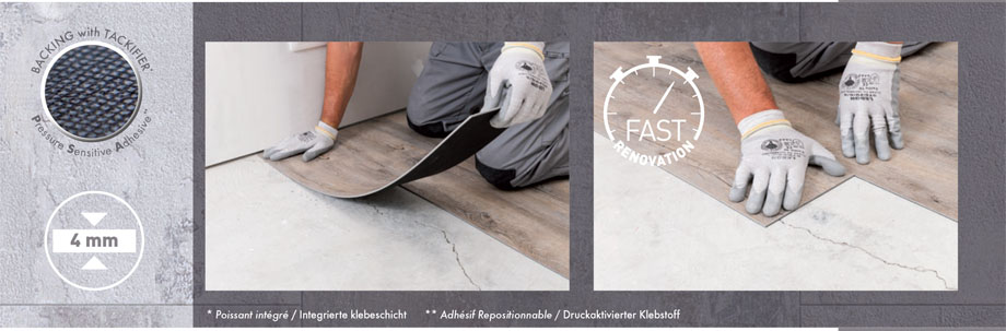 Gerflor Insight X Press Verlegung
